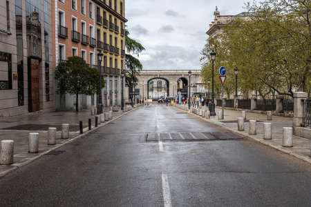 Plaza of Oriente in historic centre of Madrid