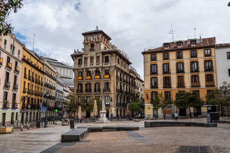 Plaza of Ramales in historic centre of Madrid