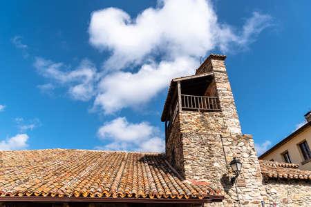Old stone church in Puebla de la Sierra