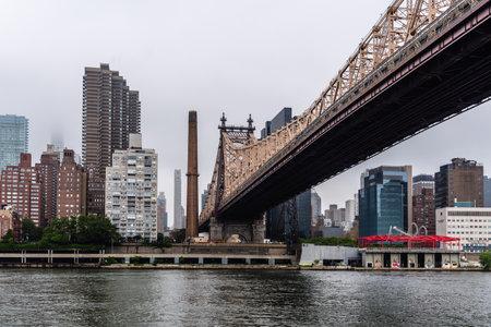 View under Queensboro Bridge in New York Editorial