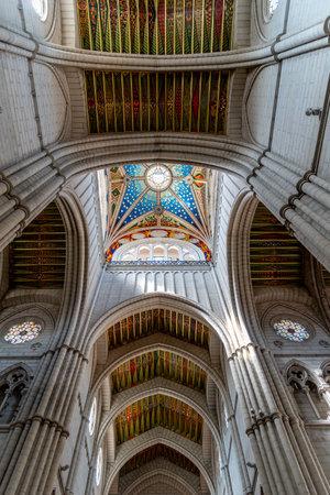 Interior of the Madrid Cathedral Santa Maria la Real de La Almudena