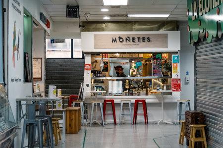 Small Restaurant Inside Food Market in Madrid