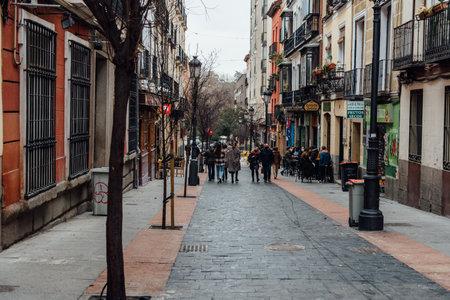Las Huertas Street in Historic Centre of Madrid