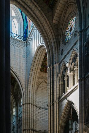 Interior View of the Cathedral of La Almudena in Madrid