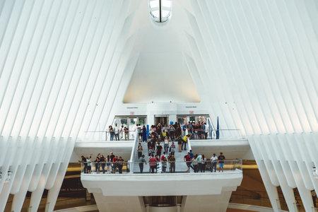 Interior View of World Trade Center Transportation Hub in New York