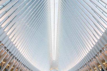 Interior View of World Trade Center Transportation Hub in New York, USA. Editorial