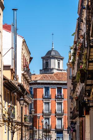 Cava Alta Street in Central Madrid, Spain Editorial