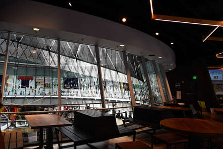 Interior view of The Fulton Center in New York