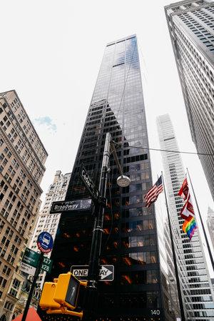 Skyscraper in Downtown of Manhattan, New York City Editorial
