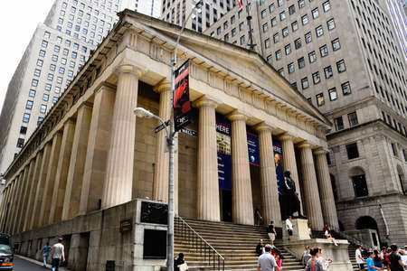Low angle view of Federal Hall National Memorial building in New York
