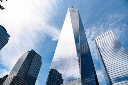 One World Trade Center an other skyscrapers in New York Editorial