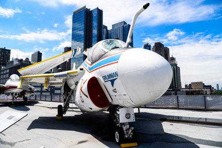 Grumman A6- Intruder fighter aircraft in Intrepid museum in New York