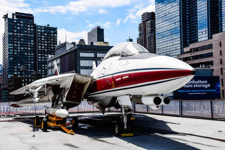 F-14 Aircraft in Intrepid museum in New York
