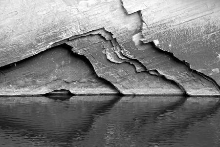 indian creek: rock wall reflections 2 - west clear creek, northern az Stock Photo