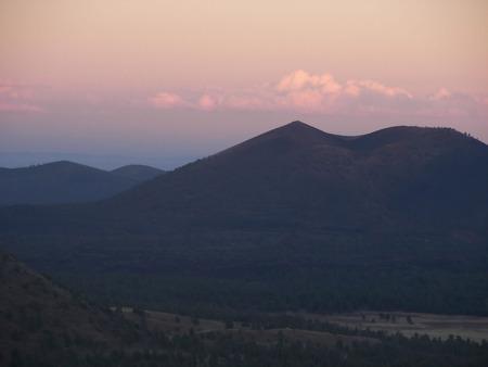 flagstaff: sunset from mount elden - flagstaff, az