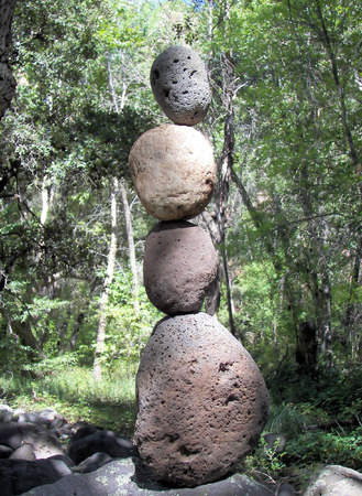rock totem in sedona, az 스톡 콘텐츠