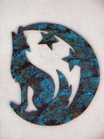 coyote sculpture Banco de Imagens