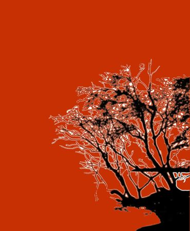 trippy: trippy tree graphic Stock Photo