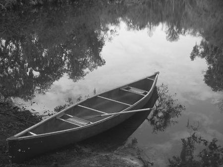canoe on the bayou photo