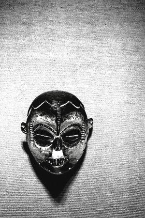 maschera tribale: maschera tribale male Archivio Fotografico