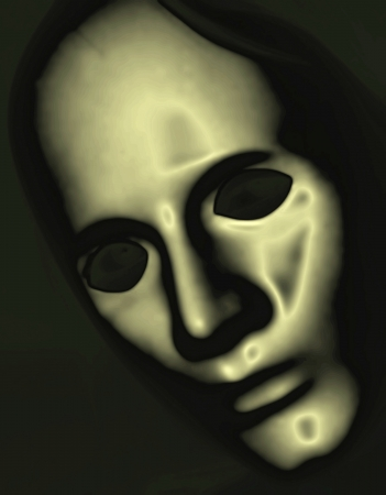 metallic mask graphic