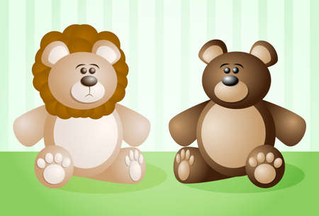 stuffed animals: Stuffed Animals Illustration