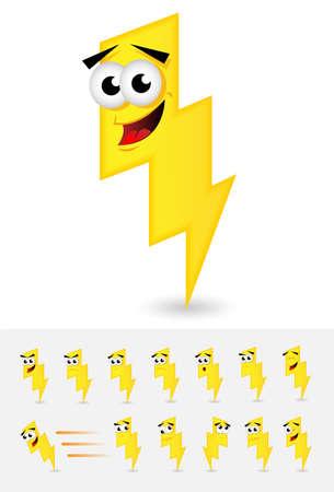 bolt: Lightning Bolt Cartoon Illustration