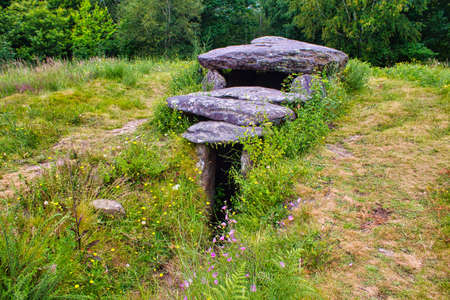 Prehistoric funerary monument in Marin, Galicia, northern Spain. It's called