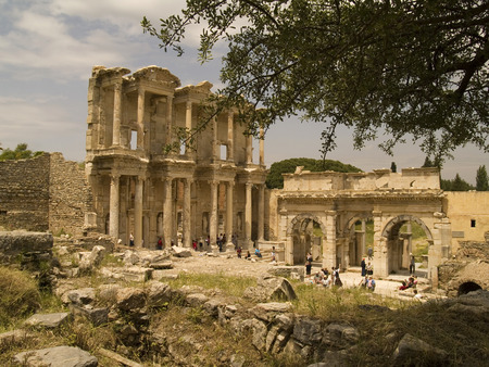 slaves: Celsus Library City of Ephesus Editorial