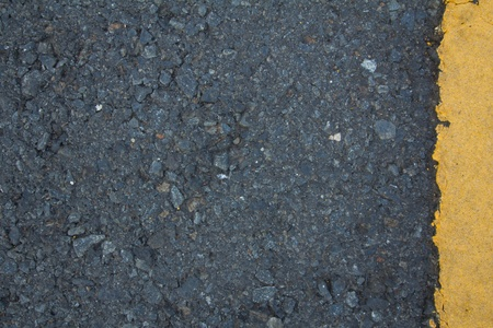 Road texture with right yellow stripe  photo