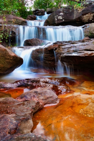 Waterfall at National Park Thailand Stock Photo - 13619928