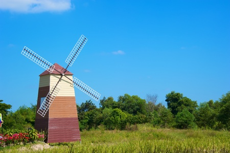 windmill and old house barn, Thailand photo