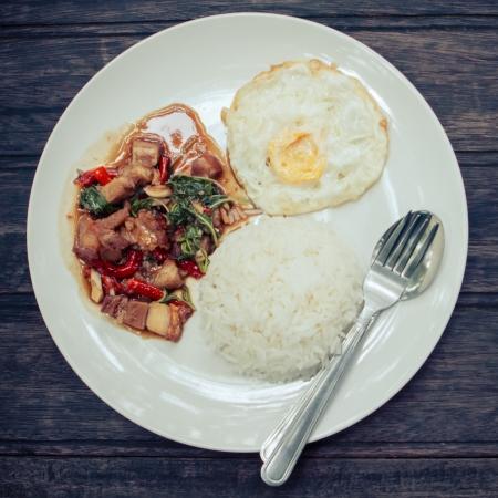 kapao moo, Thai food photo