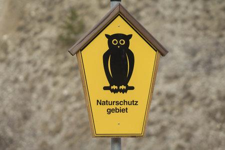 national parks: German sign - Nature reserve Nature Reserve