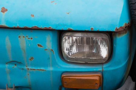 abandoned car: old abandoned, rusty car Stock Photo