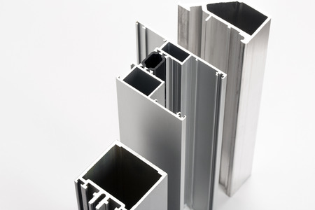 Aluminum profiles Standard-Bild