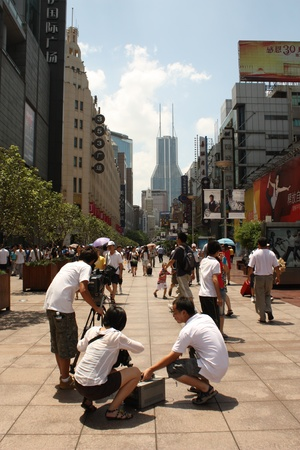 reportage: Nanjing Road street in Shanghai, China August 5, 2010 - Reportage
