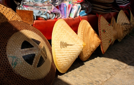 conical: Straw hats