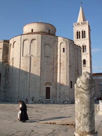 Saint Donat Church and Roman forum in Zadar, Croatia - July 26, 2009