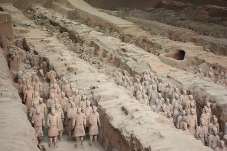 Terracotta warriors museum, Xian, China - July 26, 2010
