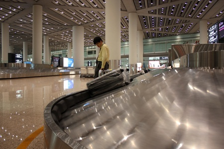 Luggage claim area in the Pekin Capital airport in China - July 16, 2010