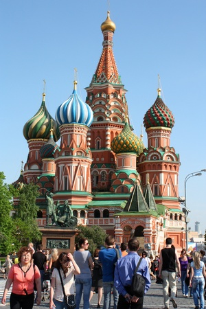 St. Basil's Cathedral, Moscow, Russia - May 9, 2010 Stock Photo - 9204848