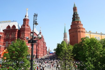 Victory Day in Moscow: People are walking near the Red Square - May 9, 2010 Stock Photo - 9204849