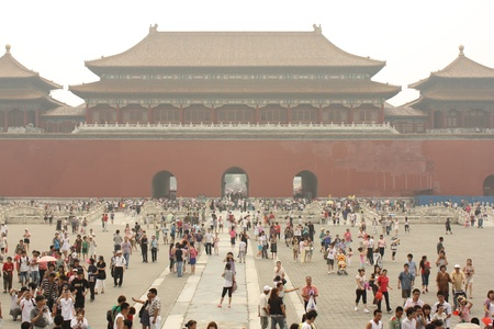 Forbidden City (Gugong) in Beijing, China - July 17, 2010 Editorial