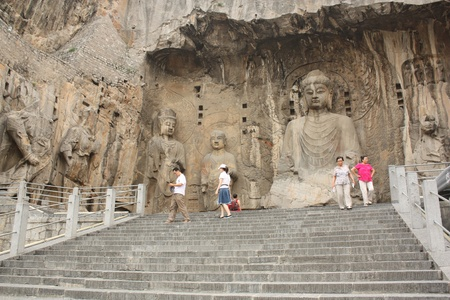 Longmen Caves in Luoyang City, Henan province, China. Protected by UNESCO  Photo taken on: July 21st, 2010 Stock Photo - 11044719