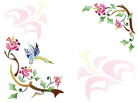 associative: Abstract floral background