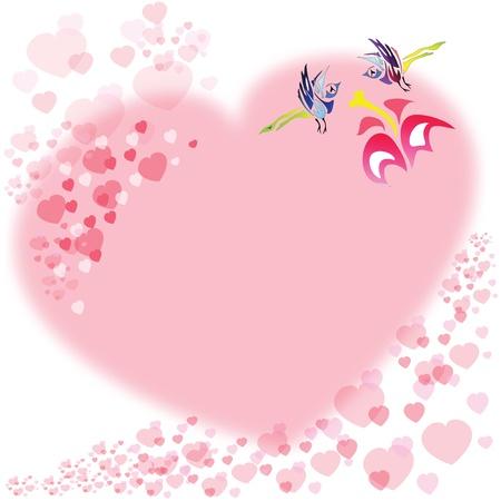 Love birds background Stock Vector - 9321571