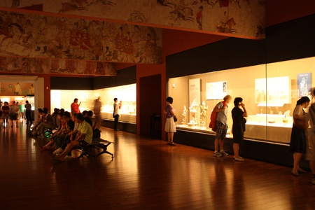 Exhibition hall in Shaanxi Museum of History, Xian, China - July 23, 2010