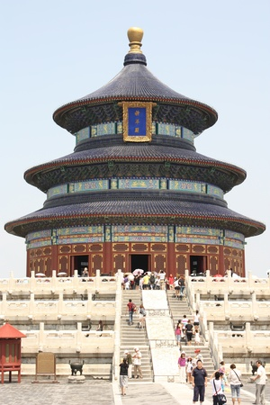 Chinese architecture - Temple of Heaven in Beijing, China - July 20th, 2010 Stock Photo - 9322788