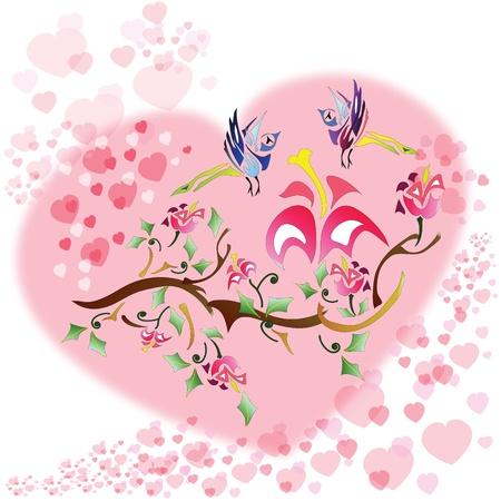 enamoured: Love birds background